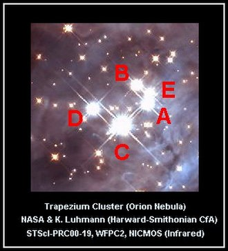 Trapezium Cluster - Image: Trapezium Stars