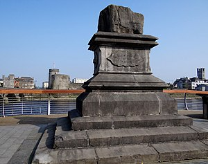 Treaty of Limerick - The Treaty Stone on which the Treaty of Limerick may have been signed.