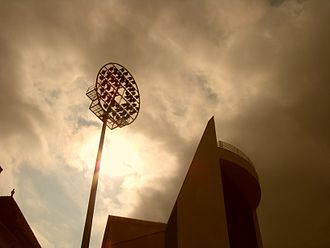 Floodlight - A floodlight at Trent Bridge cricket ground in Nottingham