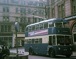 Trolleybus in Bradford City Centre - geograph.org.uk - 1514272.jpg
