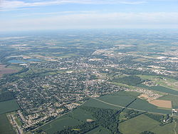 Aerial view of Troy and Concord Township