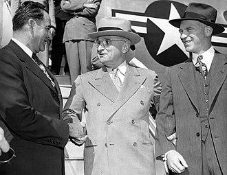 W. Kerr Scott - Scott (left) in 1951, with Harry S. Truman and Gordon Gray.