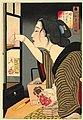 Tsukioka Yoshitoshi - Looking dark - the appearance of a wife during the Meiji era.jpg