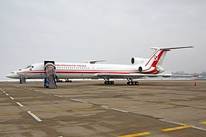 36th Special Aviation Regiment - VIP airliner Tupolev Tu-154M Lux at the airport in Zagreb