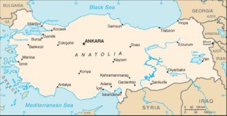 Outline of Turkey - An enlargeable basic map of Turkey
