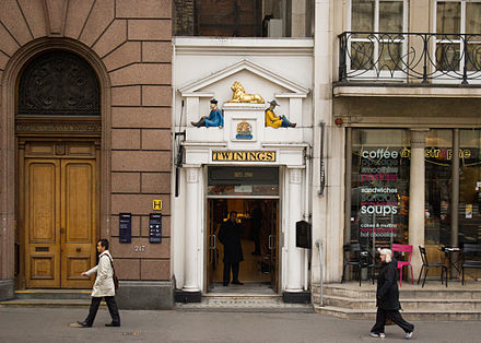 Twinings' Tea Shop has been based on the Strand since 1706 Twinings Strand Heritage Shop, London, UK - 20111128.jpg