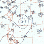 Typhoon Doris surface analysis 14 July 1964.png