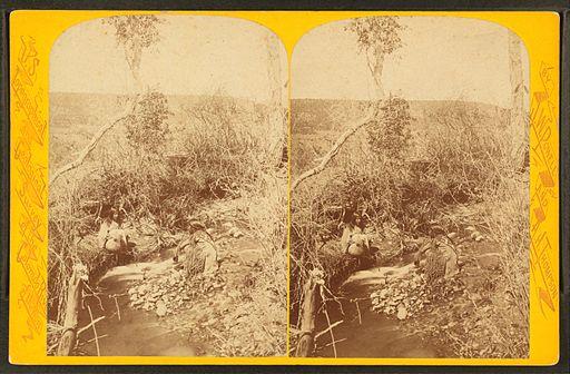 U-in-tah Utes - met at the spring, by Hillers, John K., 1843-1925