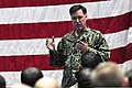 U.S. Navy Adm. Mark Ferguson, the vice chief of naval operations, talks to Sailors during an all-hands call at Naval Support Activity Bahrain in Manama, Bahrain, July 30, 2013 130730-N-IZ292-037.jpg
