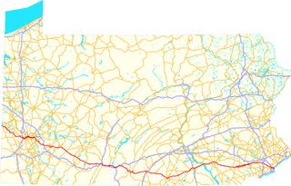 U.S. Route 30 in Pennsylvania highway in Pennsylvania