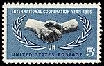 UN International Cooperation Year 5c 1965 issue U.S. stamp.jpg