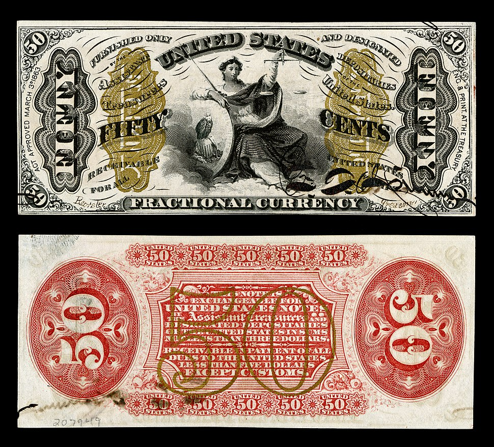 US-Fractional (3rd Issue)-$0.50-Fr.1355