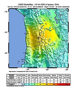 USGS Shakemap 137 km ESE of Iquique, Chile.jpg