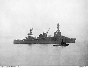 Attack on Sydney Harbour - USS Chicago in Sydney Harbour on 31 May 1942