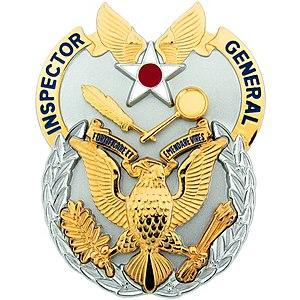 Air Force Inspector General Badge - US Air Force Inspector General Duty Badge