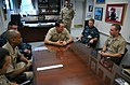 US Navy 090713-N-7705S-018 Vice Adm. Jay Donnelly, commander, Submarine Force, recalls his Naval Academy days with Midshipman Andrew Zeller of Stafford, Va.jpg