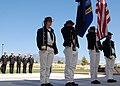 US Navy 091003-N-2893B-001 A USS Constitution color guard detail parades the colors during the opening ceremony of Albuquerque Navy Week at New Mexico Veterans Memorial Park.jpg