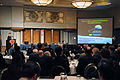 US Navy 100223-N-7647G-001 Rear Adm. Phillip H. Collum, director of Fleet Readiness Division, explains the Navy's current energy security efforts and outlines the goals and expectations of the American Society of Naval Enginee.jpg