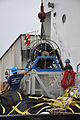 US Navy 100504-N-6608T-003 The crew of the U.S. Coast Guard seagoing buoy tender USCGC Oak (WLB 211) prepare oil spill recovery equipment while moored at Naval Air Station Pensacola.jpg
