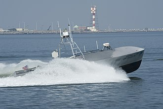 Littoral combat ship - A Fleet-class unmanned surface vessel during testing. The USV will be used for both MCM and ASW.