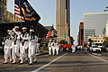 US Navy 110902-N-MZ294-242 The color guard assigned to Navy Recruiting District St. Louis marches members of the 53rd Cardinal Company to Busch Sta.jpg