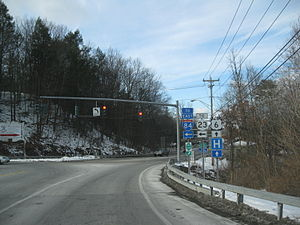 New Jersey Route 23 - Mismarked cutout signage for Orange County Route 15 for Route 23 from U.S. Route 6