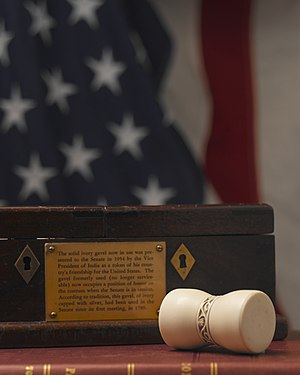 Traditions of the United States Senate - Image: US Senate new gavel