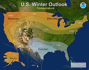 2015–16 North American winter - Temperature Outlook