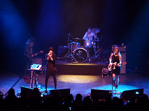 Uh Huh Her (band) - Uh Huh Her performing at Shepherd's Bush Empire in London, April 2012