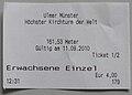 Ulm Munster ticket.JPG