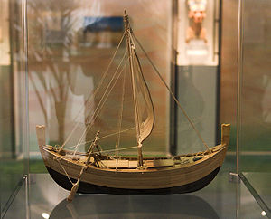 Uluburun shipwreck - Wooden model of the ship's reconstruction