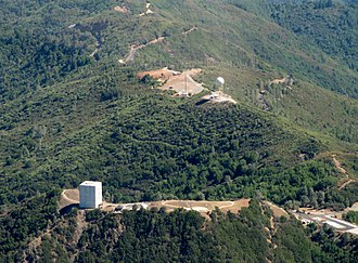 Mount Umunhum - Aerial view from north, July 2017.
