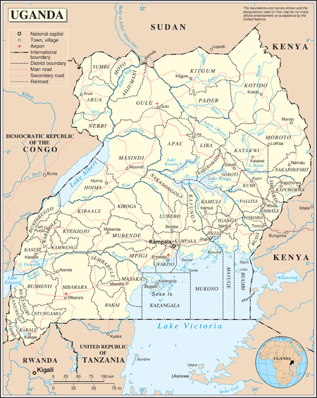 Geography of Uganda Wikipedia