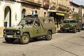 Un Nissan Patrol y un Uro VAMTAC ambulancia de la BRILAT (15449322615).jpg