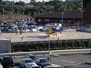 Helipad - Image: Uni hosp coventry air ambulance 12l 07