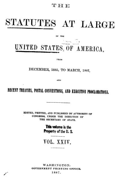 File:United States Statutes at Large Volume 24.djvu