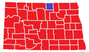 United States presidential election in North Dakota, 1972 - Image: United States presidential election in North Dakota, 1972, by county
