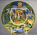 Urbino, bottega fontana (attr.), tagleire con stemma salviati, 1550-60 ca..JPG