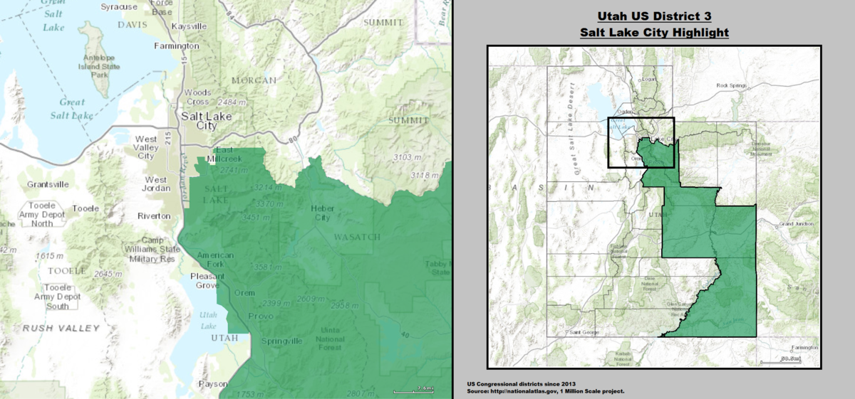 Utahs Rd Congressional District Wikipedia - Us congressional district map