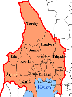 karta över värmland