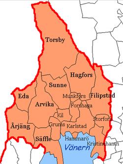 Karta Arvika Kommun.Varmlands Lan Wikipedia