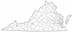 Location of Raven, Virginia
