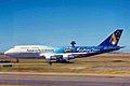 VH-INJ 1 B747-312 Ansett Au (Sydney 2000 spl c-s) SYD 05JAN99 (6582248067).jpg
