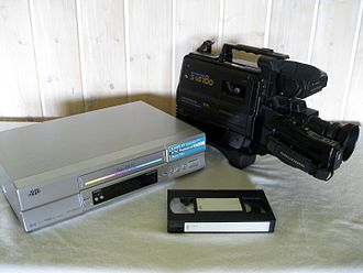 VHS - VHS recorder, camcorder and cassette.