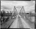 VIEW LOOKING WEST TOWARD EAST PORTAL - Powder River Bridge, County Road 269, Leiter, Sheridan County, WY HAER WY0,17-LEIT.V,1-4.tif