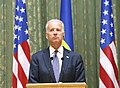 VP Biden and PM Yatsenyuk, Joint Statement, Kyiv, Ukriane, April 22, 2014 (13977914852).jpg