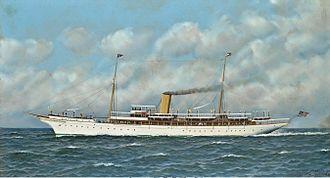 TS Vanadis - The New York Yacht Club's steam yacht Vanadis at sea by Antonio Jacobsen
