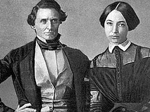 Jefferson Davis - Wedding photograph of Jefferson Davis and Varina Howell, 1845