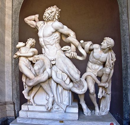Laocoon and his Sons in the Vatican Museum, which was under the care of the Pontifical Commission for the Cultural Heritage of the Church Vatican-Le Laocoon.jpg