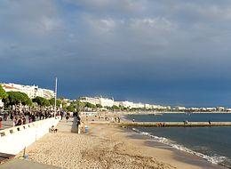 Veduta della spiaggia e della Croisette
